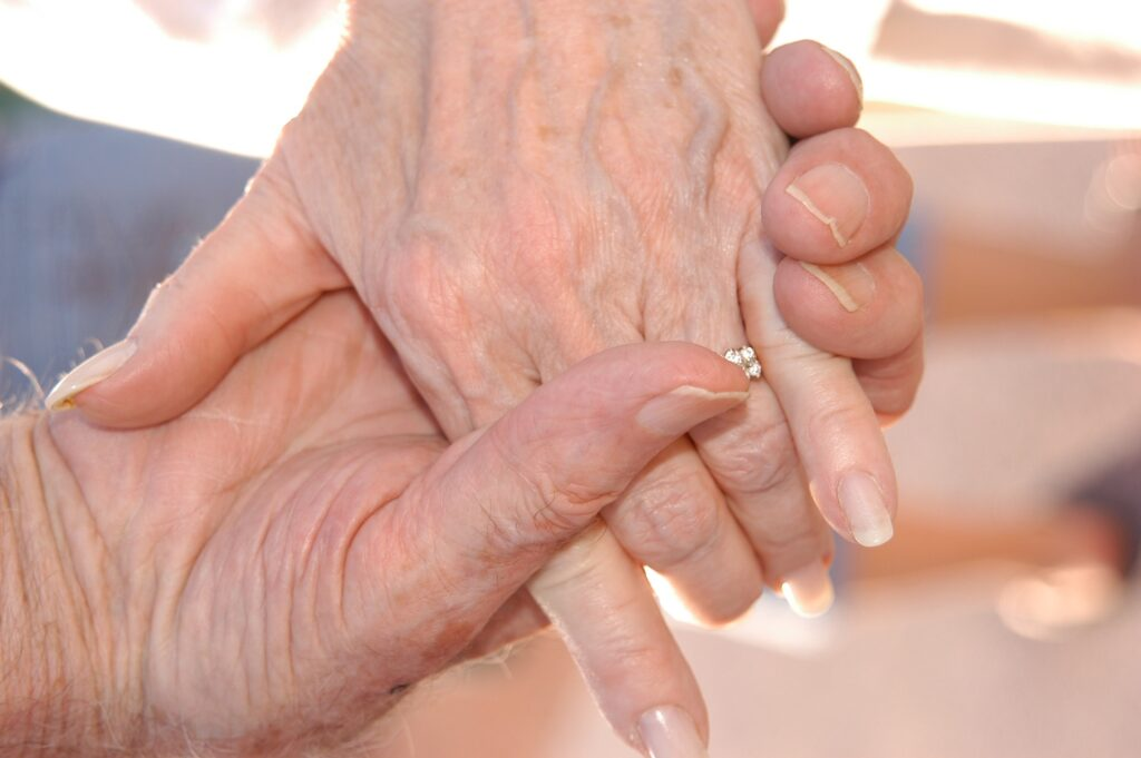 Think of the gifts of love and advice from a Grandparent's hands
